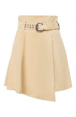 Кожаная юбка Chloé. Цвет: бежевый