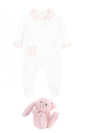 Комплект из пижамы и игрушки Tartine Et Chocolat. Цвет: розовый