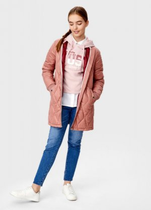 Бомбер со стёжкой O`Stin. Цвет: розовый