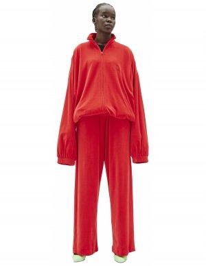 Красная оверсайз олимпийка Balenciaga
