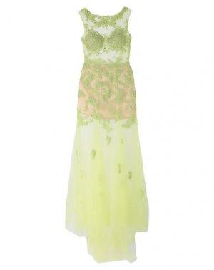 Длинное платье ALLURE. Цвет: светло-зеленый