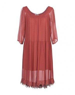 Короткое платье KATE. Цвет: ржаво-коричневый