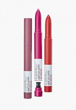 Помада Maybelline New York Superstay Ink Crayon, оттенок 45, красный, Танцуй до упаду, 1.5 гр. Цвет: красный