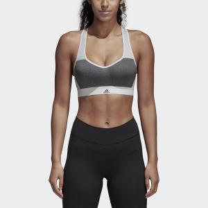 Спортивный бра Stronger For It Heather Performance adidas. Цвет: серый