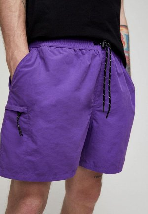Шорты Pull&Bear. Цвет: фиолетовый