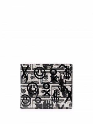 Бумажник Dollar Philipp Plein. Цвет: белый