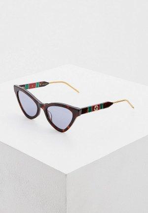 Очки солнцезащитные Gucci GG0597S 002. Цвет: коричневый