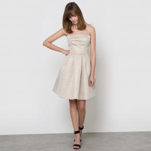 Платье коктейльное LA REDOUTE COLLECTIONS. Цвет: золотистый/узор