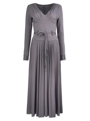 Платье GIO Guerreri. Цвет: серый