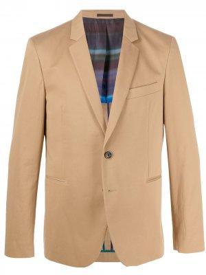 Пиджак на пуговицах PS Paul Smith. Цвет: нейтральные цвета