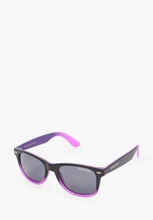 Очки солнцезащитные Brenda P8001 m.black-purple-smoke. Цвет: черный