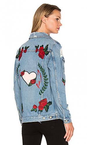 Свободная джинсовая куртка-дальнебойщика daria GRLFRND. Цвет: none