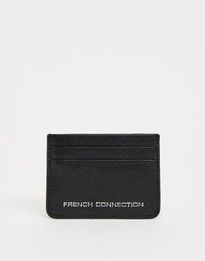 Черная кожаная кредитница -Черный цвет French Connection