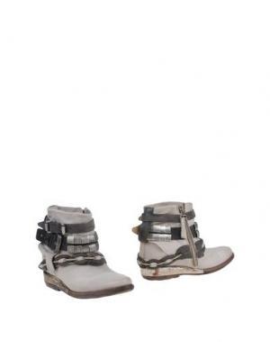 Полусапоги и высокие ботинки AIR STEP. Цвет: светло-серый
