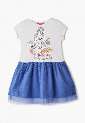Платье Disney. Цвет: белый