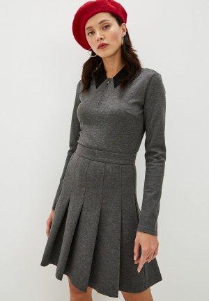 Платье Terekhov Girl. Цвет: серый