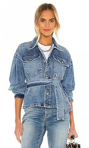 Джинсовая куртка yvette GRLFRND. Цвет: none