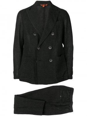 Костюм-двойка с двубортный пиджаком Barena. Цвет: черный
