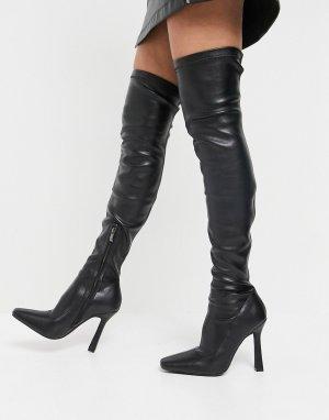 Черные ботфорты Simmi London Minar-Черный цвет Shoes