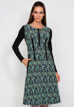 Платье D.VA MP002XW1GLO6. Цвет: бирюзовый