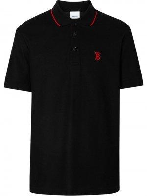 Рубашка-поло с отделкой Icon Stripe Burberry. Цвет: черный