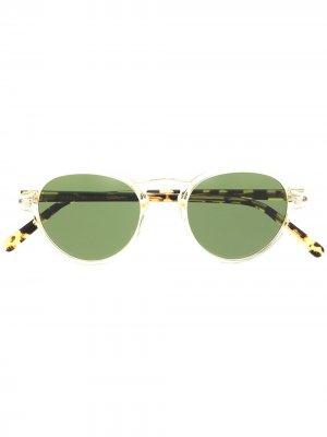 Солнцезащитные очки Bluma с затемненными линзами Moscot. Цвет: желтый