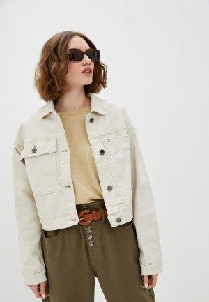 Куртка джинсовая UNQ. Цвет: белый