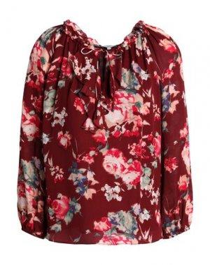 Блузка JOIE. Цвет: красно-коричневый