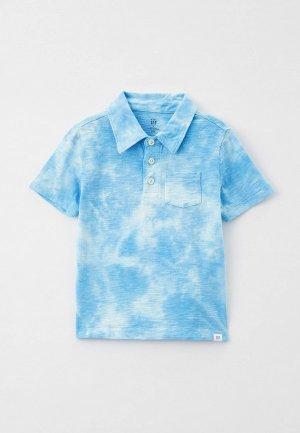 Поло Gap. Цвет: голубой