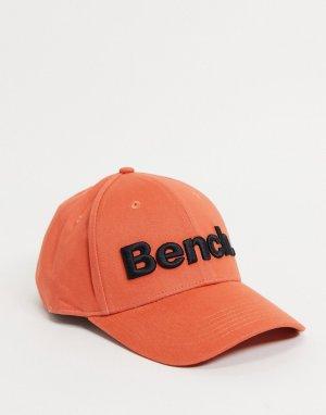 Оранжевая кепка с большим логотипом -Оранжевый цвет Bench