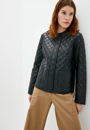 Куртка кожаная Weekend Max Mara LAZIO. Цвет: черный