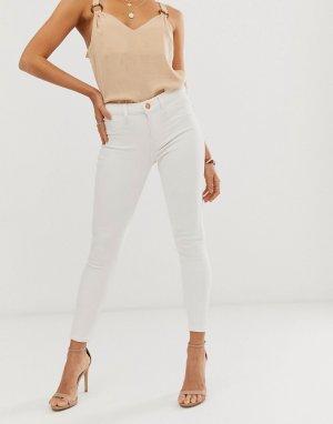 Белые зауженные джинсы -Белый River Island
