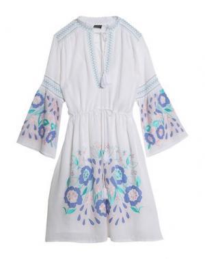 Платье до колена ANTIK BATIK. Цвет: белый