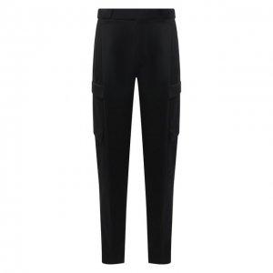 Шерстяные брюки-карго Zegna Couture. Цвет: чёрный