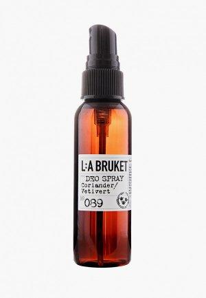 Дезодорант La Bruket 089 KORIANDER/VETIVERT, 55 ml. Цвет: прозрачный