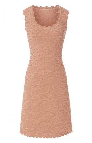 Платье из вискозы Alaia. Цвет: бежевый