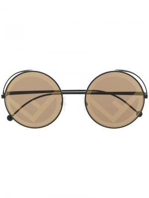Солнцезащитные очки Fendirama Fendi Eyewear. Цвет: черный