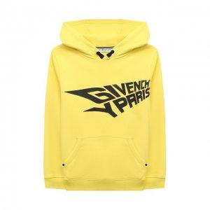 Хлопковое худи Givenchy. Цвет: жёлтый