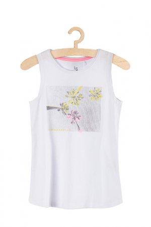 Майка для девочек 5.10.15.. Цвет: белый