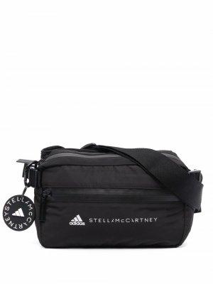 Поясная сумка с логотипом adidas by Stella McCartney. Цвет: черный