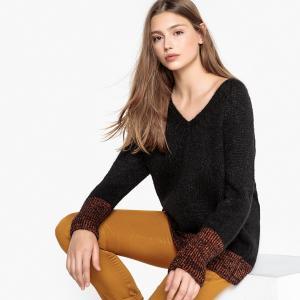 Пуловер с V-образным вырезом V MEVIL SUD EXPRESS. Цвет: черный