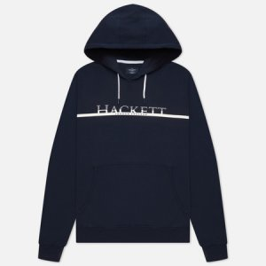 Мужская толстовка Gradual Logo Print Hoodie Hackett. Цвет: синий