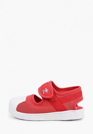 Туфли adidas Originals. Цвет: красный