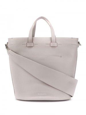 Овальная сумка Contour Troubadour. Цвет: серый