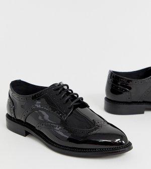 Черные туфли на шнуровке для широкой стопы -Черный ASOS DESIGN