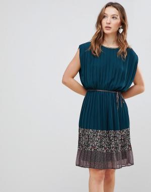 Платье с принтом Verdo Deby Debo. Цвет: зеленый