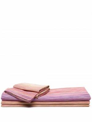 Комплект постельного белья John Missoni Home. Цвет: нейтральные цвета