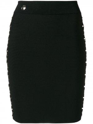 Laced Style skirt Philipp Plein. Цвет: черный