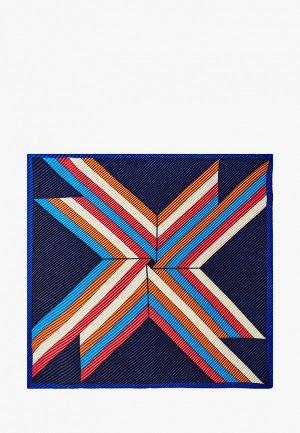 Платок Labbra 70х70 см. Цвет: синий