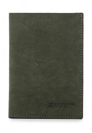 Обложка для паспорта Duffy. Цвет: хаки
